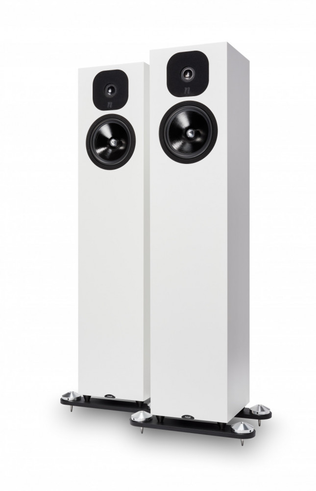 NEAT ACOUSTICS Momentum SX5i Satin White + Momentum Super Plinth kit